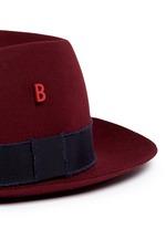 'Traveller' mohair ribbon band rabbit furfelt hat