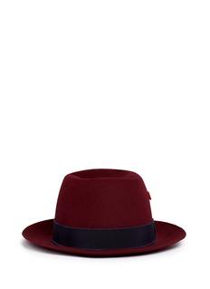My Bob'Traveller' mohair ribbon band rabbit furfelt hat