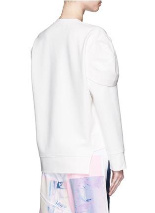 Back View - Click To Enlarge - NICOPANDA - Deconstructed sweatshirt