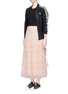 NICOPANDARuffle tulle overlay maxi skirt