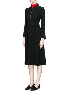 MO&CO. EDITION 10Ring zip pull crepe dress