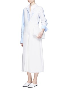 MO&CO. EDITION 10V-neck wool culotte jumpsuit