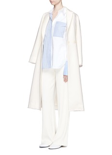 MO&CO. EDITION 10Frayed wool blend tailored coat