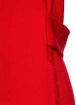 Textured wool long vest coat