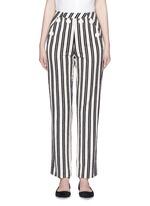 Stripe textured cotton sailor pants