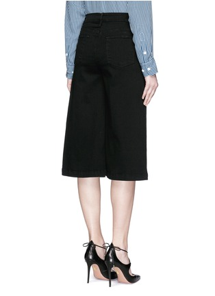 Back View - Click To Enlarge - Frame Denim - 'Le Gaucho' wide leg cropped jeans