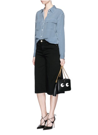 Figure View - Click To Enlarge - Frame Denim - 'Le Gaucho' wide leg cropped jeans