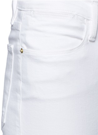 Detail View - Click To Enlarge - Frame Denim - 'Le High Straight' high rise jeans