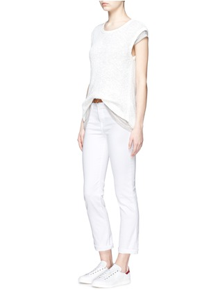 Figure View - Click To Enlarge - Frame Denim - 'Le High Straight' high rise jeans