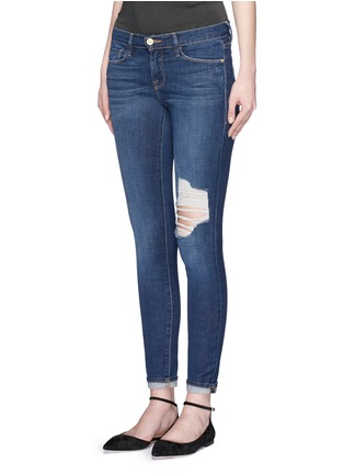 Front View - Click To Enlarge - Frame Denim - 'Le Skinny De Jeanne' ripped skinny jeans