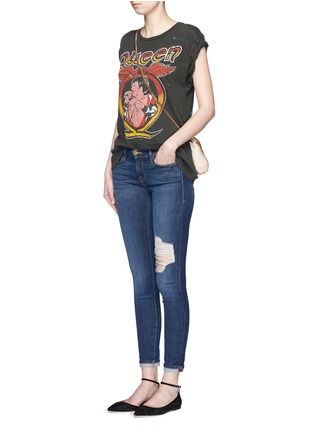 Figure View - Click To Enlarge - Frame Denim - 'Le Skinny De Jeanne' ripped skinny jeans