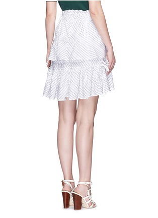 Back View - Click To Enlarge - Peter Pilotto - 'Pull' chevron stripe drawstring tiered skirt
