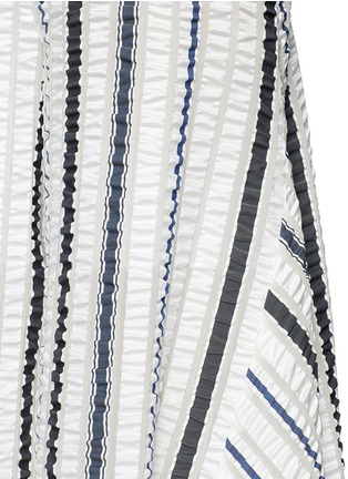 Detail View - Click To Enlarge - Peter Pilotto - 'Latmos' stripe silk-blend cloqué culottes