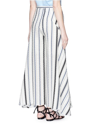 Back View - Click To Enlarge - Peter Pilotto - 'Latmos' stripe silk-blend cloqué culottes