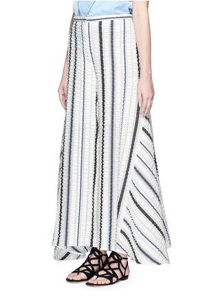 Front View - Click To Enlarge - Peter Pilotto - 'Latmos' stripe silk-blend cloqué culottes