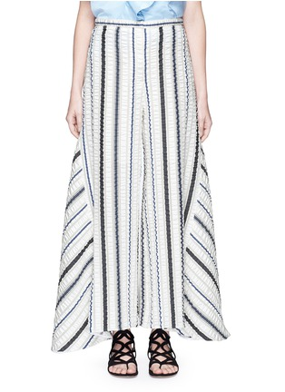 Main View - Click To Enlarge - Peter Pilotto - 'Latmos' stripe silk-blend cloqué culottes