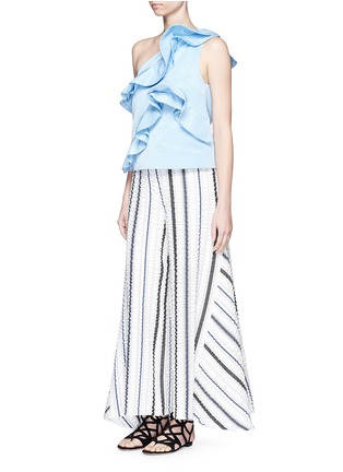 Figure View - Click To Enlarge - Peter Pilotto - 'Latmos' stripe silk-blend cloqué culottes