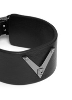 'Rockstud Noir' leather bracelet