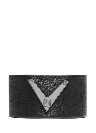 Main View - Click To Enlarge - Valentino - 'Rockstud Noir' leather bracelet