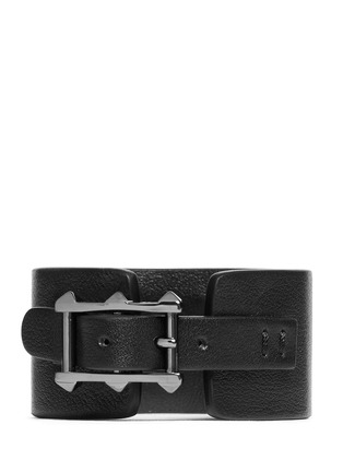 Figure View - Click To Enlarge - Valentino - 'Rockstud Noir' leather bracelet