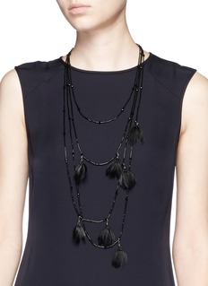 VALENTINO Navajo feather bead necklace