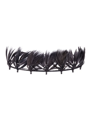 Valentino-'Indian Crown' hand-beaded feather headband