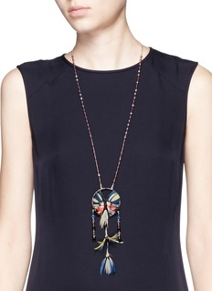 VALENTINOButterfly feather bead necklace