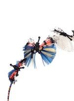 Hand-beaded feather butterflies ethnic headband
