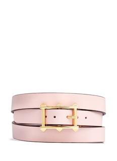 VALENTINO'V Rockstud' triple wrap leather bracelet