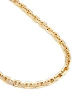 'Supra' crystal pavé geometric link necklace