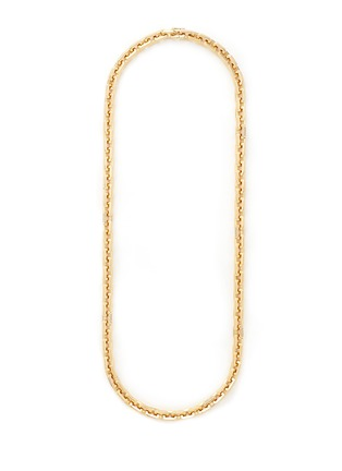 Main View - Click To Enlarge - Eddie Borgo - 'Supra' crystal pavé geometric link necklace