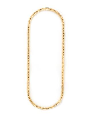 Eddie Borgo-'Supra' crystal pavé geometric link necklace