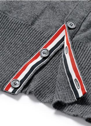 细节 - 点击放大 - THOM BROWNE - 条纹羊绒针织外套