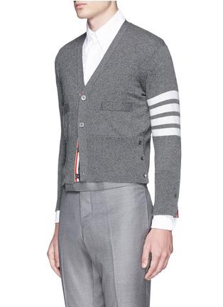 正面 -点击放大 - THOM BROWNE - 条纹羊绒针织外套