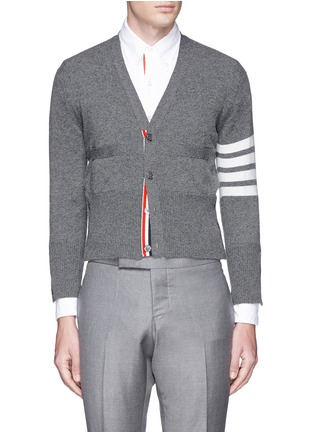 首图 - 点击放大 - THOM BROWNE - 条纹羊绒针织外套