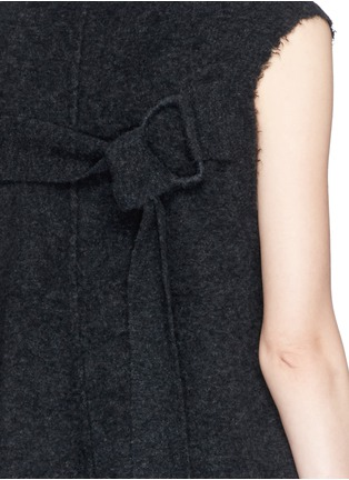Detail View - Click To Enlarge - 3.1 Phillip Lim - Frayed edge wool blend sleeveless sweater