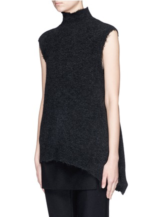 Front View - Click To Enlarge - 3.1 Phillip Lim - Frayed edge wool blend sleeveless sweater