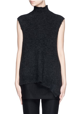 Main View - Click To Enlarge - 3.1 Phillip Lim - Frayed edge wool blend sleeveless sweater