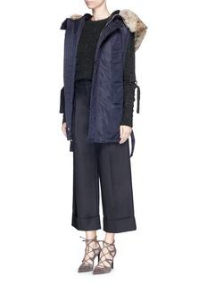 3.1 PHILLIP LIMSleeve strap wool-yak blend sweater