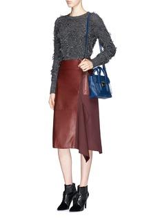 3.1 PHILLIP LIMDiamond fringe jacquard Mohair-wool blend sweater