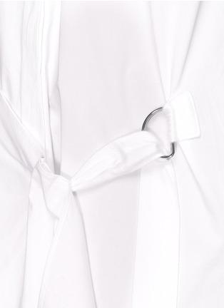 细节 - 点击放大 - 3.1 PHILLIP LIM - 裙摆式层次拼贴混棉衬衫