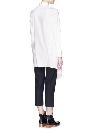 背面 - 点击放大 - 3.1 PHILLIP LIM - 裙摆式层次拼贴混棉衬衫