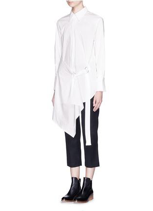 正面 -点击放大 - 3.1 PHILLIP LIM - 裙摆式层次拼贴混棉衬衫