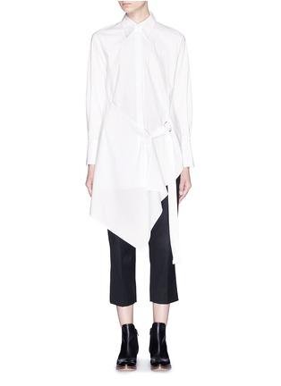 首图 - 点击放大 - 3.1 PHILLIP LIM - 裙摆式层次拼贴混棉衬衫