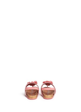 Back View - Click To Enlarge - LUCKY SOLE - 'Mini Bloom' infant glitter flower appliqué sandals