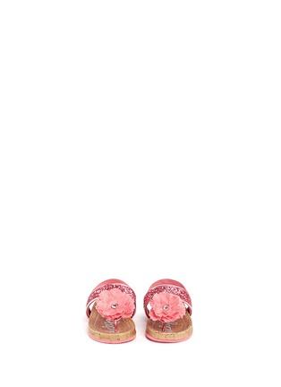 Figure View - Click To Enlarge - LUCKY SOLE - 'Mini Bloom' infant glitter flower appliqué sandals