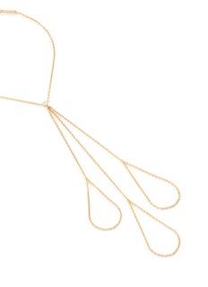 Ego Sur Mesure 'Main' diamond 18k yellow gold triple ring chain bracelet
