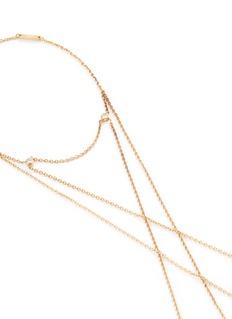 Ego Sur Mesure 'Main' diamond 18k yellow gold multi ring chain bracelet
