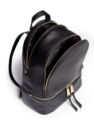 Detail View - Click To Enlarge - Michael Kors - 'Rhea' small 18k gold plated leather backpack