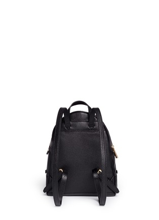 Back View - Click To Enlarge - Michael Kors - 'Rhea' small 18k gold plated leather backpack